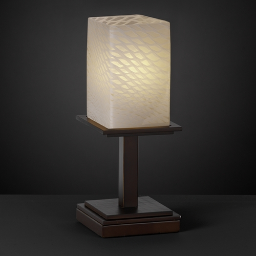 Justice Design Group Justice Design Group Fusion Collection Table Lamp FSN-8698-15-WEVE-DBRZ