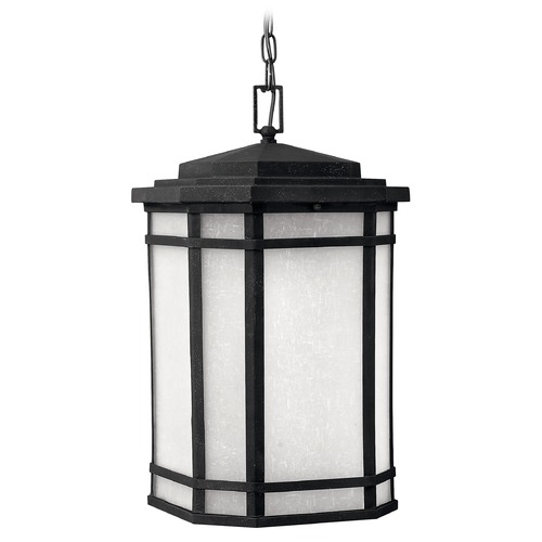 Hinkley Lighting Outdoor Hanging Light with White Glass in Vintage Black Finish 1272VK