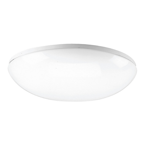 Progress Lighting Modern Flushmount Light with White in White Finish P7384-30WB