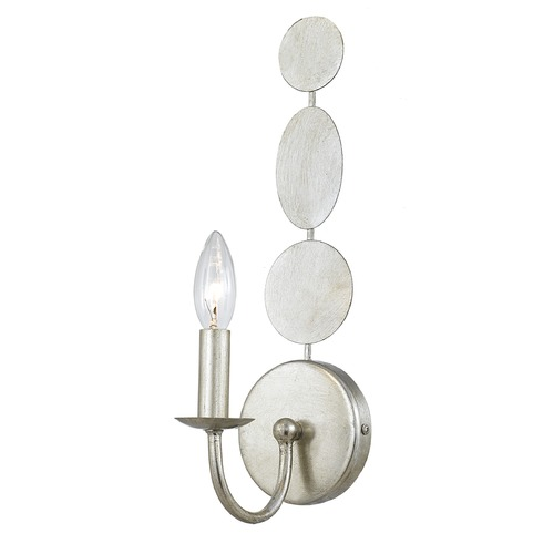 Crystorama Lighting Crystorama Lighting Layla Antique Silver Sconce 541-SA