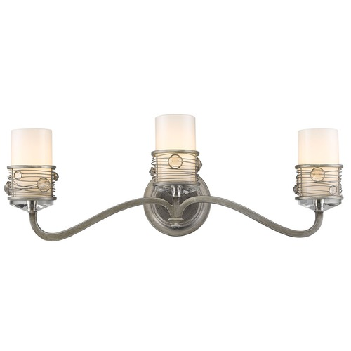 Golden Lighting Golden Lighting Joia Peruvian Silver Bathroom Light 1993-BA3 PS
