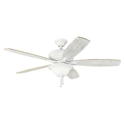 Kichler Lighting Kichler Lighting Terra Select Matte White Ceiling Fan with Light 330250MWH