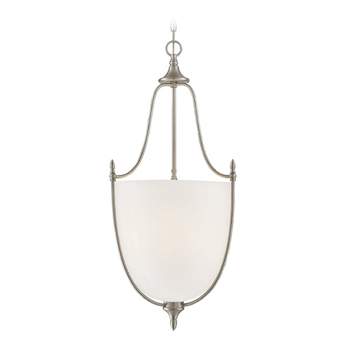 Savoy House Savoy House Lighting Herndon Satin Nickel Pendant Light with Bowl / Dome Shade 7-1003-3-SN