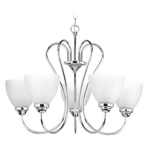 Progress Lighting Progress Lighting Heart Polished Chrome Chandelier P4666-15