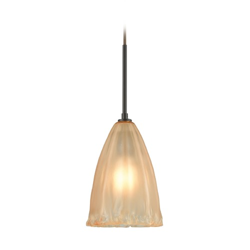 Elk Lighting Elk Lighting Calipsa Oil Rubbed Bronze Mini-Pendant Light with Bowl / Dome Shade 10439/1