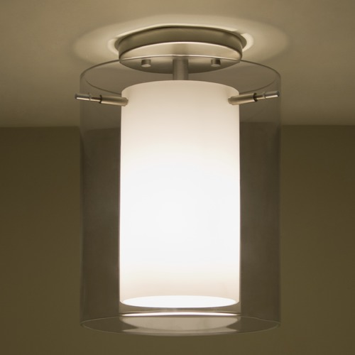 Besa Lighting Besa Lighting Pahu Satin Nickel Semi-Flushmount Light 1KM-S00607-SN