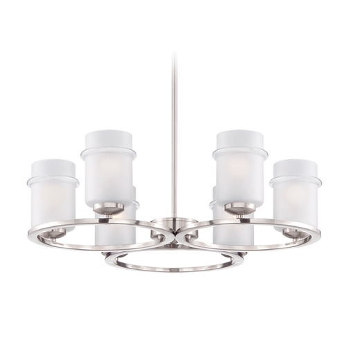 Designers Fountain Lighting Designers Fountain Omega Satin Platinum Chandelier 86686-SP