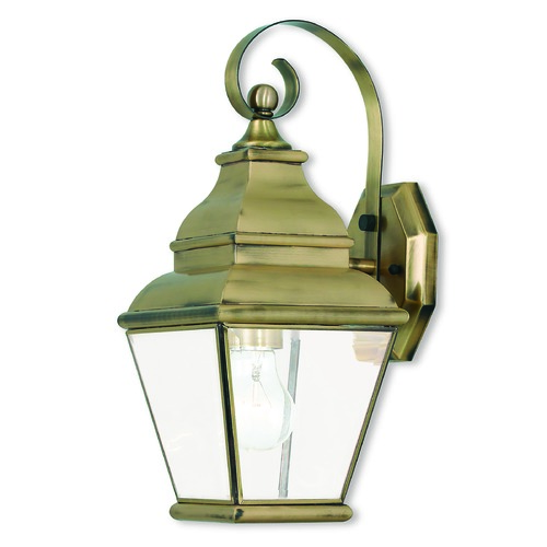 Livex Lighting Livex Lighting Exeter Antique Brass Outdoor Wall Light 2590-01