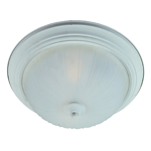 Maxim Lighting Flushmount Light with White Glass in Textured White Finish 5832FTTW