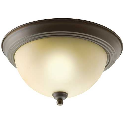 Kichler Lighting Kichler Flushmount Light with Brown Glass in Olde Bronze Finish 8108OZ