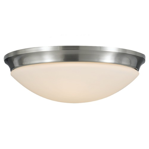 Home Solutions by Feiss Lighting Home Solutions By Feiss Barrington Brushed Steel Flushmount Light FM273BS