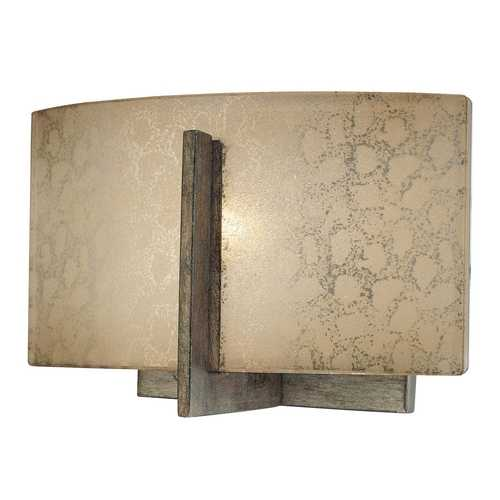 Minka Lavery Sconce with Beige / Cream Glass in Patina Iron Finish 6391-573