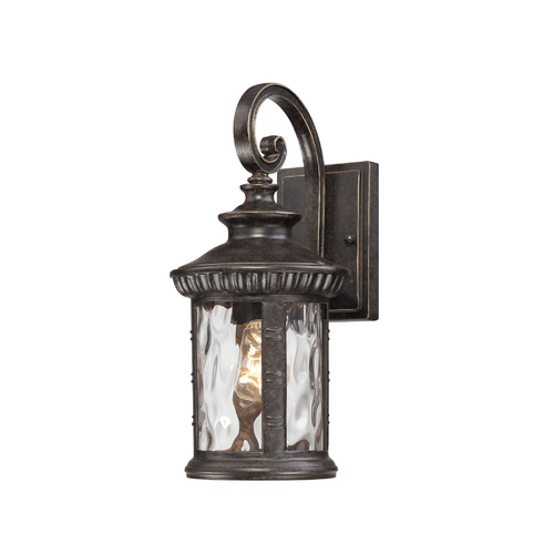 Quoizel Lighting Outdoor Wall Light with Clear Glass in Imperial Bronze Finish CHI8407IB