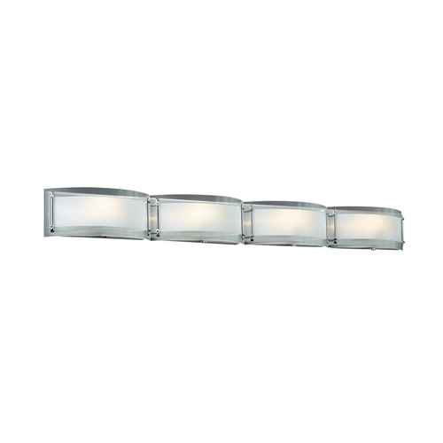 PLC Lighting Modern Bathroom Light with Clear Glass in Polished Chrome Finish 7848 PC
