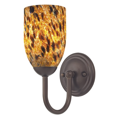 Design Classics Lighting Design Classics Fountain Fuse Neuvelle Bronze Sconce 593-220 GL1005D