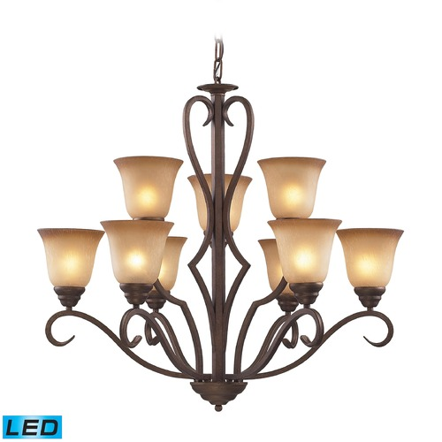 Elk Lighting Elk Lighting Lawrenceville Mocha LED Chandelier 9329/6+3-LED