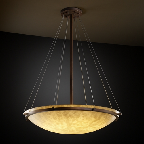 Justice Design Group Justice Design Group Clouds Collection Pendant Light CLD-9697-35-DBRZ