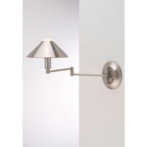 Holtkoetter Lighting Holtkoetter Modern Swing Arm Lamp in Satin Nickel Finish 9416 SN