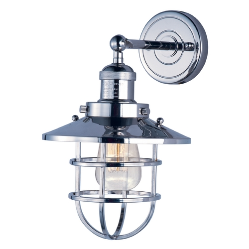 Maxim Lighting Maxim Lighting Mini Hi-Bay Polished Nickel Sconce 25070PN/BUI