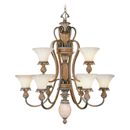 Livex Lighting Livex Lighting Savannah Venetian Patina Chandeliers with Center Bowl 8459-57