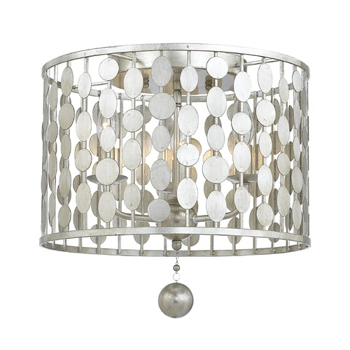Crystorama Lighting Crystorama Lighting Layla Antique Silver Flushmount Light 544-SA