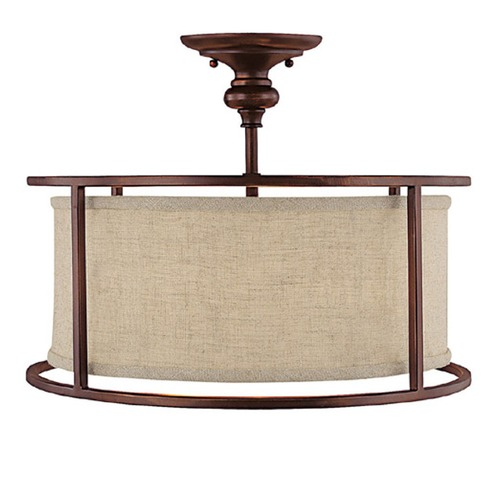 Capital Lighting Capital Lighting Midtown Burnished Bronze Semi-Flushmount Light 3914BB-458