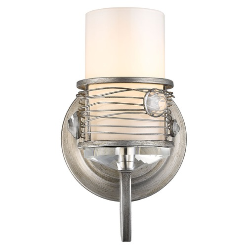 Golden Lighting Golden Lighting Joia Peruvian Silver Sconce 1993-BA1 PS