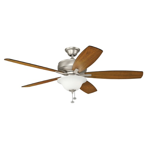 Kichler Lighting Kichler Lighting Terra Select Brushed Nickel Ceiling Fan with Light 330250NI