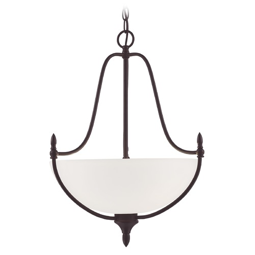 Savoy House Savoy House Lighting Herndon English Bronze Pendant Light with Bowl / Dome Shade 7-1004-3-13