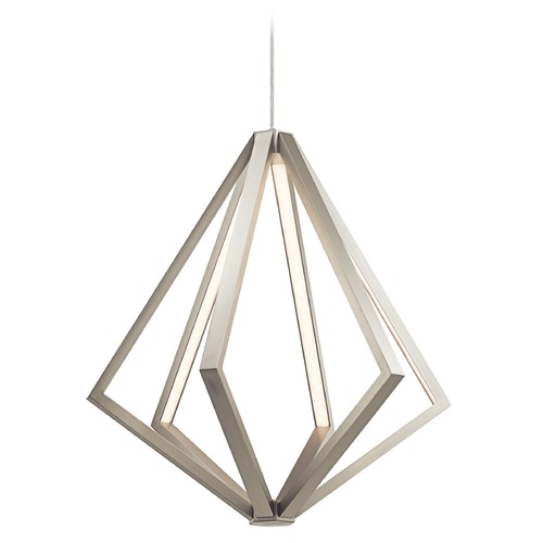 Elan Lighting Elan Lighting Everest Satin Nickel LED Pendant Light 83735
