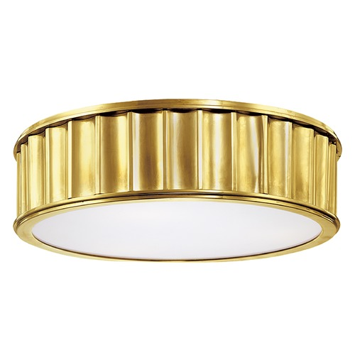 Hudson Valley Lighting Flushmount Light in Aged Brass Finish 911-AGB
