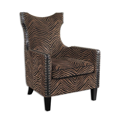 Uttermost Lighting Chair in Ebony Finish 23003