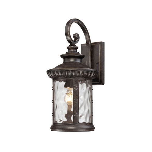 Quoizel Lighting Outdoor Wall Light with Clear Glass in Imperial Bronze Finish CHI8409IB