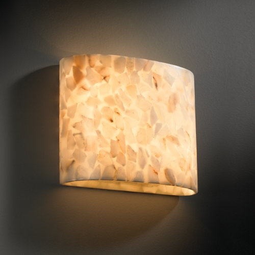 Justice Design Group Justice Design Group Alabaster Rocks! Collection Sconce ALR-8855