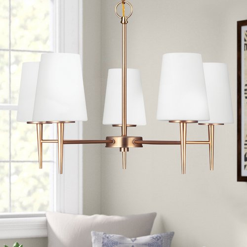 Sea Gull Lighting Modern Chandelier Bronze Driscoll by Sea Gull Lighting 3140405-848