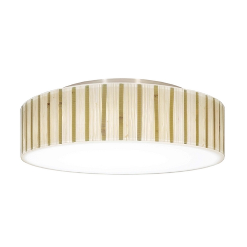 Recesso Lighting by Dolan Designs Decorative Ceiling Trim for Recessed Lights with Bamboo Drum Shade 10614-09