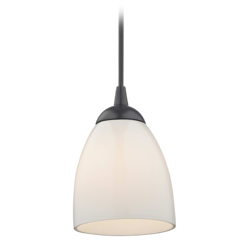 Design Classics Lighting Design Classics Gala Fuse Matte Black LED Mini-Pendant Light with Bell Shade 682-07 GL1024MB