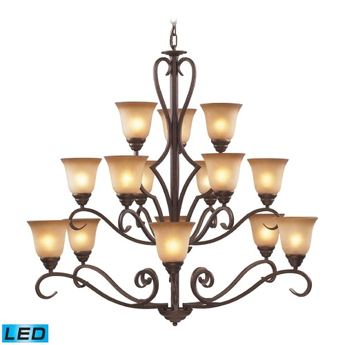 Elk Lighting Elk Lighting Lawrenceville Mocha LED Chandelier 9330/6+6+3-LED