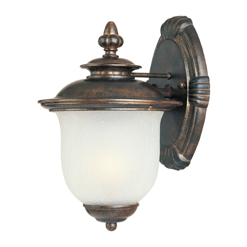 Maxim Lighting Outdoor Wall Light with White Glass in Chocolate Finish 86293FCCH