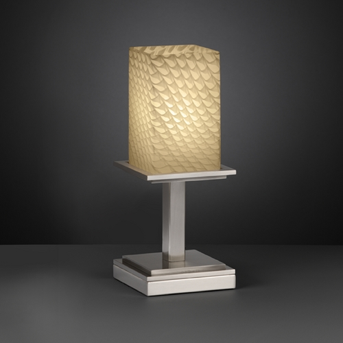 Justice Design Group Justice Design Group Fusion Collection Table Lamp FSN-8698-15-WEVE-NCKL