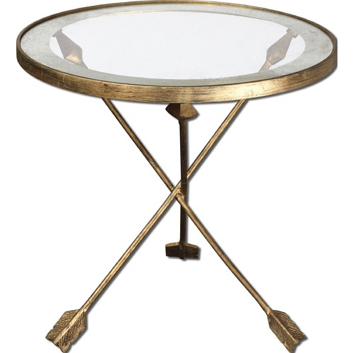 Uttermost Lighting Uttermost Aero Glass Top Accent Table 24275