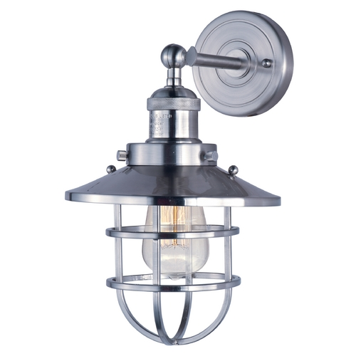 Maxim Lighting Maxim Lighting Mini Hi-Bay Satin Nickel Sconce 25070SN/BUI