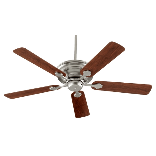 Quorum Lighting Quorum Lighting Barclay Satin Nickel Ceiling Fan Without Light 76525-65