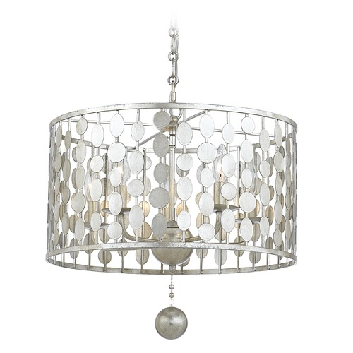 Crystorama Lighting Crystorama Lighting Layla Antique Silver Pendant Light 545-SA