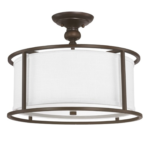 Capital Lighting Capital Lighting Midtown Burnished Bronze Semi-Flushmount Light 3914BB-459