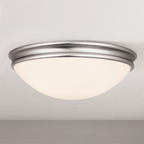 Access Lighting Access Lighting Atom Brushed Steel LED Flushmount Light 20724LEDD-BS/OPL