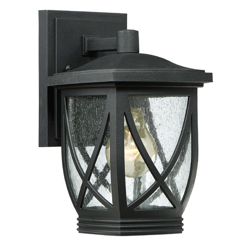 Quoizel Lighting Quoizel Tudor Mystic Black Outdoor Wall Light TDR8406K