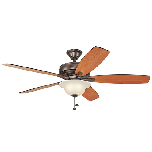 Kichler Lighting Kichler Lighting Terra Select Oil Brushed Bronze Ceiling Fan with Light 330250OBB