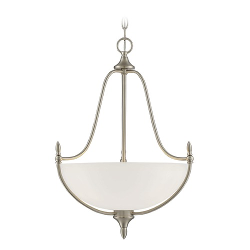 Savoy House Savoy House Lighting Herndon Satin Nickel Pendant Light with Bowl / Dome Shade 7-1004-3-SN