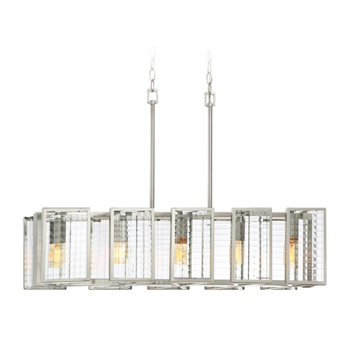Designers Fountain Lighting Designers Fountain Pivot Satin Platinum Island Light 88838-SP